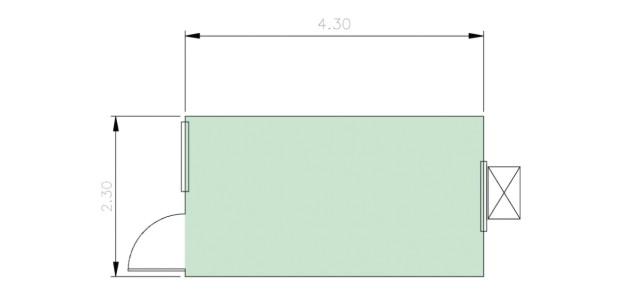 Container Habitacional Termoacústico 30mm MMTA-10-0
