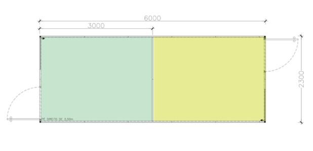 Container Habitacional Termoacústico 30mm MMTA-13-1