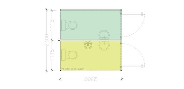 Container Habitacional Termoacústico 30mm MMTA-5-2-MF