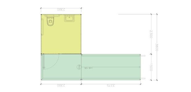 Container Habitacional Termoacústico 30mm MMTA-5-PNE